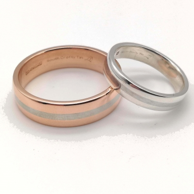 9k Rose Gold Ring (Wide) Size I - P