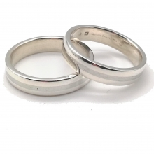 Silver Ring (Wide) Size Q - W