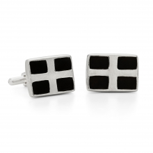 Cornish St Piran's Flag Cufflinks