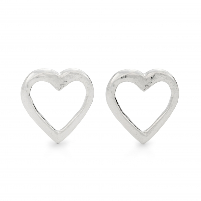 Cornish Heart Stud Earrings
