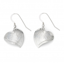 Kerenza Domed Heart Earrings
