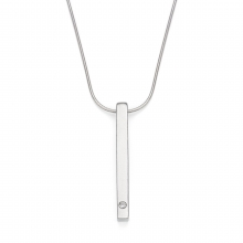 Eternity Diamond Bar Pendant